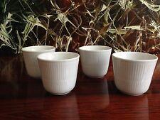 ROYAL COPENHAGEN Weiß Gerippt - Set mit 4 Thermo - Kaffeebecher - NEU!!!!