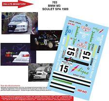 DÉCALS 1/18 réf 703 BMW M3 SOULET SPA 1989