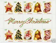AUSTRALIA 2009 CHRISTMAS STAMPS GUTTER STRIP OF 10 UNMOUNTED MINT, MNH.