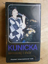 HALINA KUNICKA WCZORAJ I DZIS VHS Polish Music Video Yesterday Today vtg 80s