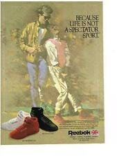 PUBLICITE ADVERTISING   1986   REEBOK  chaussures de sport