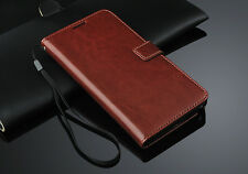 Brown Luxury Wallet Flip PU Leather Case Stand Cover For Samsung Galaxy Note 4