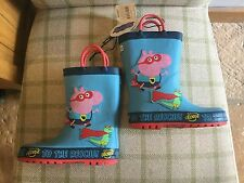 Mothercare PEPPA PIG WELLIES SIZE 7  - GEORGE TO THE RESCUE -Brand New