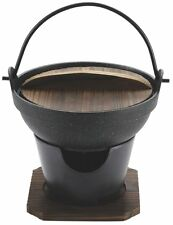 Pearl Metal Hearths pot Wood lid set Marble kaiseki H-5361 Ships from japan