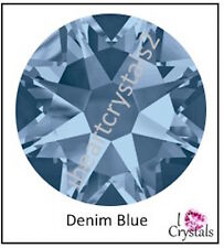 DENIM BLUE Swarovski 34ss 7mm Crystal Flatback Rhinestones 2058 Xilion 6 pieces