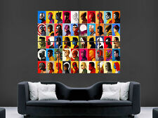 SUPERHEROES COMIC COLLAGE POSTER ART IMAGE HUGE LARGE SPIDERMAN HULK BATMAN