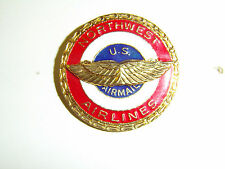 b0639 Northwest US Airmail Airlines Cap badge R2A