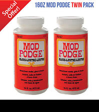 Mod Podge Gloss 2x 16oz Twin Pack Glue Sealer Varnish Finish 32oz 946ML in Total