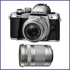 Olympus OM-D E-M10 Mark II with 14-42mm II R & 40-150mm f/4-5.6 Lenses [Silver]
