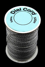 100M (328ft) ROLL NYLON WHITE and BLACK DIAL CORD STRING - VINTAGE VALVE RADIOS