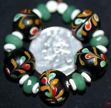 ~5~CONTEMPORARY~FANCY~FLORAL~LAMP WORK~REPRODUCTION~GORGEOUS BEADS!~