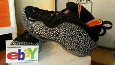 Nike Air Foamposite One PRM 7/19/13 ANTHRACITE/TOTAL ORANGE-BLK 575420 003