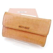 Auth Miu Miu Wallet Wallet Crocodile Embossed Ladies used J18335
