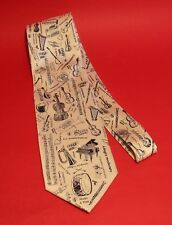 Orchestral Instrument Sheet Music Men's Polyester Tie Musician Teacher Xmas Gift