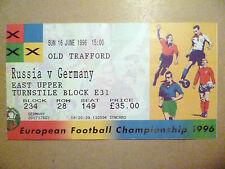 1996 Ticket European Championship- Russia v Germany 16 June(old Trafford) Orgin