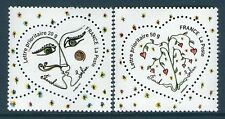 TIMBRES 4128-4129 NEUF XX LUXE - COEURS DE FRANCK SORBIER - SAINT VALENTIN TIMB