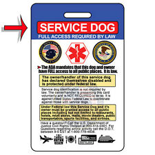 Service Dog ID Card (Badge) & Certificate with FREE Collar Tag ($25 VALUE)