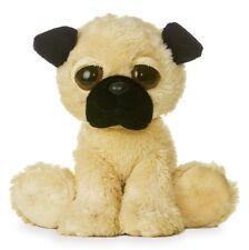 """NEW AURORA 12"""" DREAMY EYES PLUSH PUG DOG CUDDLY SOFT TOY TEDDY"""