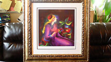 Linda Le Kinff - Passing Time With Max - Seriolithograph COA New Frame Nice