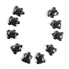 1027 10pcs of 27mm Hematite turtle loose beads