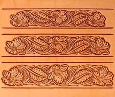 #1 FLORAL BELT CRAFTAID TEMPLATE 76622-00 Tandy Carving Leather Craftaids