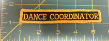 New Sew On Patch - DANCE COORDINATOR - Black with gold color stitching