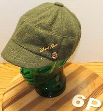 SHRED ALERT DARK GREEN WOMENS CADET/MILITARY STYLE HAT OSFM IN VERY GOOD COND