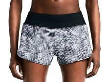 NIKE dri fit RIVAL PRINT SHORTS BLACK GREY MIX SIZE LARGE WITH INTERNAL BRIEF