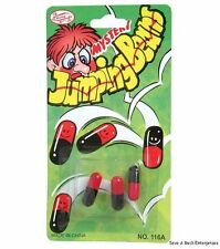72 JUMPING BEANS fake mexican magic bean gag joke toy