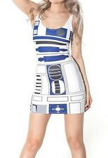 STAR Wars r2d2 Bodycon Mini Abiti