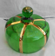 RIVERSIDE X RAY GREEN BUTTER DISH LID EAPG VICTIORIAN 1899 PRESSED GLASS