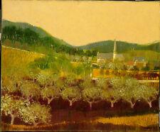 Peinture Vergers d'Automne vers 1970 signature?