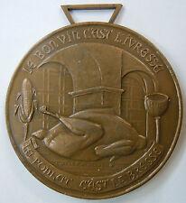 Médaille Chevalier CONFRERIE DES POULARDIERS BRESSE bronze 69 mm ORIGINAL