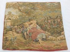 Vintage French Beautiful Cushion Tapestry 57x62cm T815