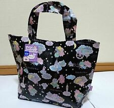 SANRIO Little Twin Stars Tote bag M size balck import from Japan KAWAII NIPPON