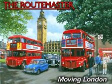 New 15x20cm ROUTEMASTER LONDON BUS enamel style metal vintage advertising sign