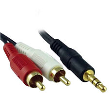1.5M 3.5mm Jack Audio MP3 DVD iPhone iPod iPad To Twin 2 RCA Phono Speaker Cable