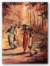 AFRICAN AMERICAN ART PRINT Coming From Harvest John Holyfield