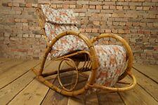 60er MID CENTURY DESIGN Schaukelstuhl - Vintage Rocking Chair - 50s Bambus 60s