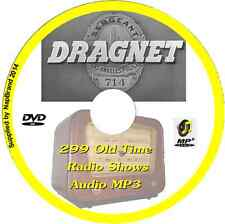Dragnet - 299 Old Time Radio Shows OTR MP3 Audio DVD Crime Detective Police