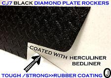 JEEP CJ7 BLACK DIAMOND PLATE SIDE ROCKER PANEL SET OF 2. 6'' WIDE