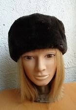 NEW SHOWROOM BROWN SHEARED BEAVER FUR HAT CAP WOMEN WOMAN SIZE ALL