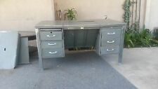 1930's tanker desk with drop down unit all original hardware 6 drawers with lock