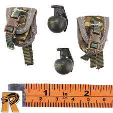 British Army Afghanistan - Frag Grenades w/ Pouches x2 - 1/6 Scale - DID Figures