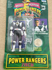 Power rangers mighty morphin zach flip head black ranger figure neuf sous blister