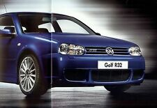 "2002 - VOLKSWAGEN Golf ""R32"" - 240 HP V6 - Swiss sales brochure, prospekte"