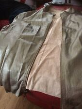 Lady  Gold Leather  Jacket Size26/28