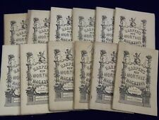 1877 HARPER'S MONTHLY MAGAZINE LOT 12 COMPLETE YEAR - NICE STORIES & ADS- WR 271