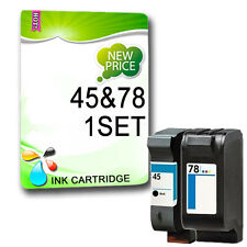 2 Reman Non-OEM Ink for Deskjet 1280 6120 6122 6127 9300 930C Replace 45 78