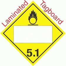 Blank Window Oxidizer Class 5.1 Laminated Tagboard Placard (Pack of 50)